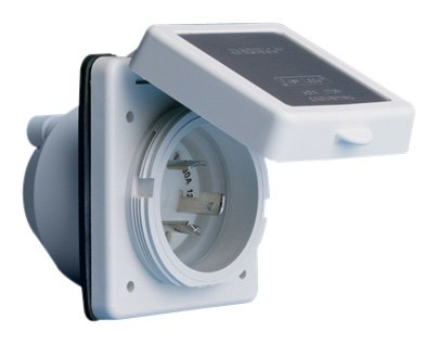 ParkPower 301ELRV 30A Power Inlet, White with Stainless Steel Trim ()