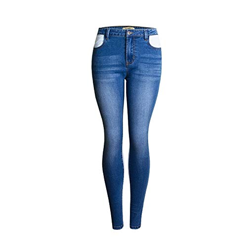 Amazon.com: Blue Stones Elastic Spliced high Waist Jeans ...