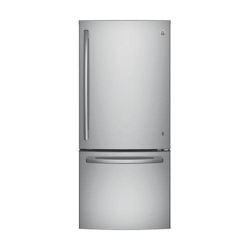 Ge Gbe21dskss Energy Star Qualified Bottom Freezer Refrigerator With 20 9 Cu  Ft  Capacity  Stainless Steel