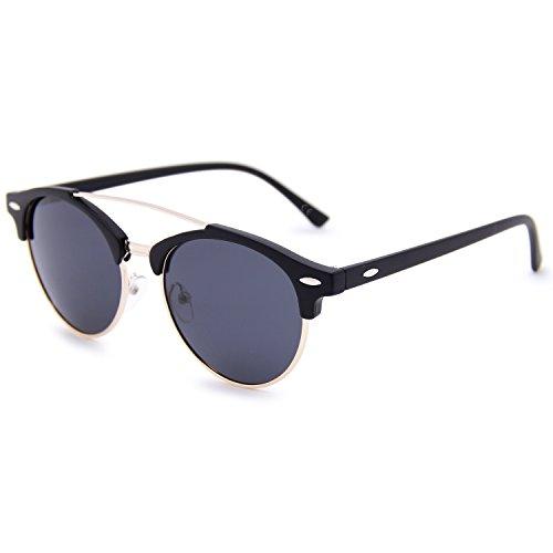 Negro Gris hombre para Gafas de AMZTM Helado sol Negro qzw6PTF