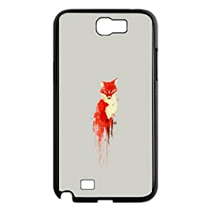 Samsung Galaxy N2 7100 Phone Case Covers Black The fox the forest spirit MGS Plastic Fashion Phone Case