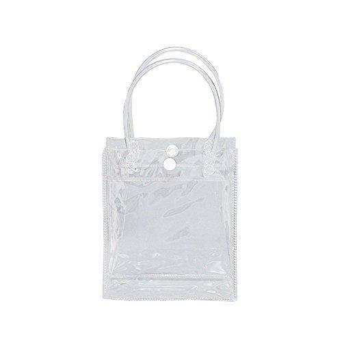 Vin beauty Claro nueva bolsa de asas del monedero del hombro transparente Colección cosmética del bolso Vertical section