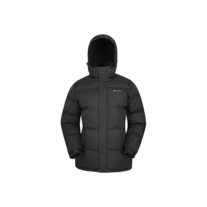 31KXbSriPqL Resistente al agua-Esta prenda de abrigo para hombre tiene un acabado impermeable para que el tejido resista el agua Capucha con forro de felpa-Para más comodidad, confort y calidez, ideal para climas inestables Poliéster