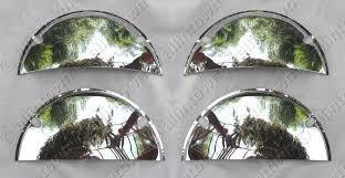 "5 3/4"" Quad Chrome Half Moon Headlight Covers"