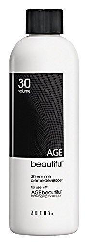 Zotos Professional Age Beautiful, 30 Volume (9%), Gentle Creme Developer, 120ml 4 oz