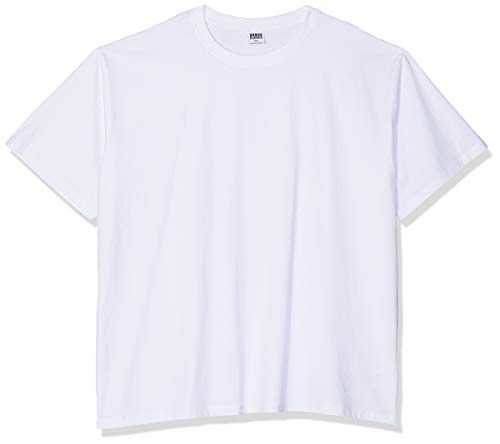 Urban Classics Men's Basic Oversized T Wide Cut, Long Tee, Short Sleeves Shirt with Crew Neck, 100% Jersey Cotton…