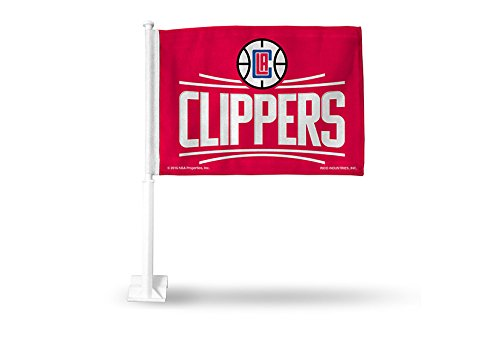 NBA Los Angeles Clippers Car Flag, Red, with White ()