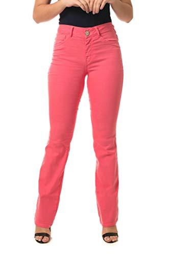 Calça Jeans Denuncia Mid Rise Flare Flamingo 42