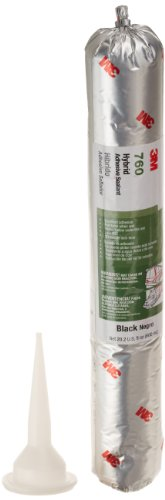 3M Adhesive Sealant 760 UV, Black, 600 mL Sausage Pack from 3M