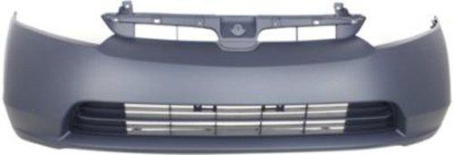 Crash Parts Plus Primed Front Bumper Cover Replacement for 2006-2008 Honda Civic Sedan ()