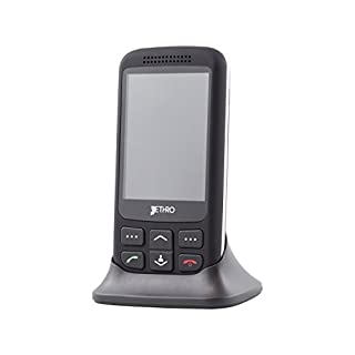 Jethro 3G Unlocked 3G Senior & Kids Slider Cell Phone Model SC435 with Free SIM Card and Charging Cradle