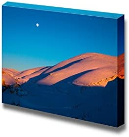 wall26 Beautiful Winter Landscape High Majestic Mountains Covered