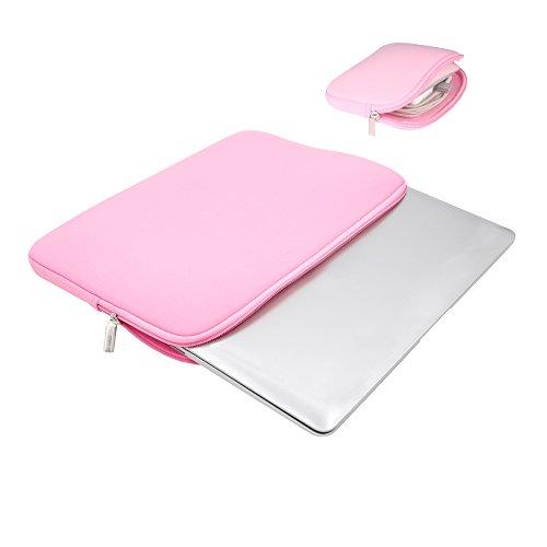 RAINYEAR 14 Computer-Laptop-H¨¹lsen-Beutel-Kasten Macbook Neopren Gepolsterte Tasche Tragetasche(Rosa)