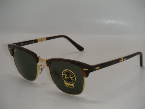 029df3dcddf RAY BAN FOLDING CLUBMASTER RB 2176 990 51MM HAVANA FRMAE WITH GREEN G-15  51MM