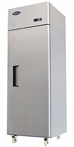 NEW 1 DOOR STAINLESS STEEL REFRIGERATOR