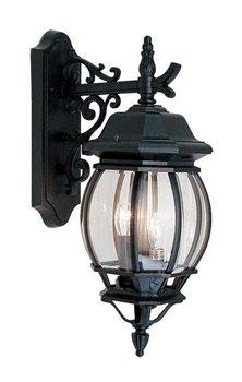 Livex Lighting 7707-04 Frontenac - Three Light Exterior Lantern, Black Finish with Clear Beveled Glass