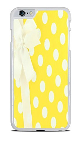 White and Yellow Polka Dots Wrapped Present With Bow White Hardshell Case for iPhone 6S+ (5.5) by Debbie's Designs
