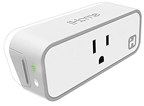 iHome ISP6X Wi-FI Smart Plug - use your voice to control connected devices with Amazon Alexa, Google Assistant and HomeKit enabled smart - 3 Light Jt System