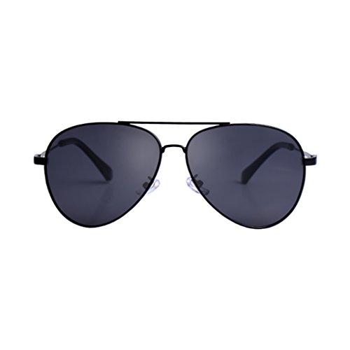 de ZHHL UV400 Lunettes Métal Noir aviateur Soleil en Hommes Polarisées qE6qPwrp