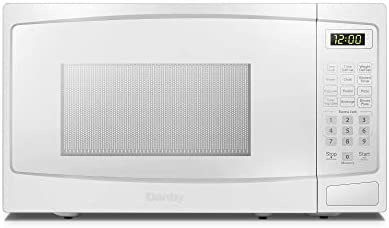 Danby DBMW0720BWW 0.7 Cu.Ft. Countertop Microwave In White – 700 Watts, Small Microwave With Push Button Door