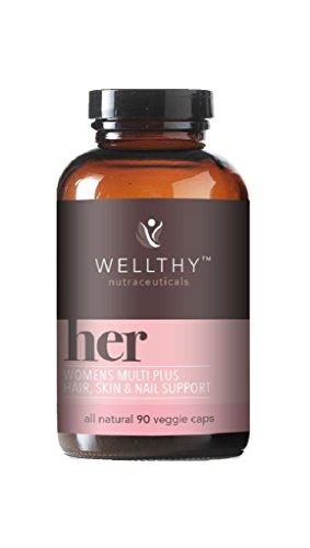 Wellthy Her – Women s – Multi Vitamin – Plus – Hair – Skin – Nail Support – 90 Vegetarian Capsules
