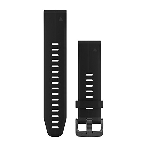 Garmin 010-12739-00 Quickfit 20 Watch Band - black Silicone - Accessory Band for D2 Delta S, Fenix 5S Plus and Fenix 5S by Garmin