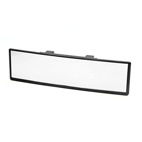 (uxcell Universal Black Plastic Rectangle Curve Rearview Mirror for Car Vehicle Interior )