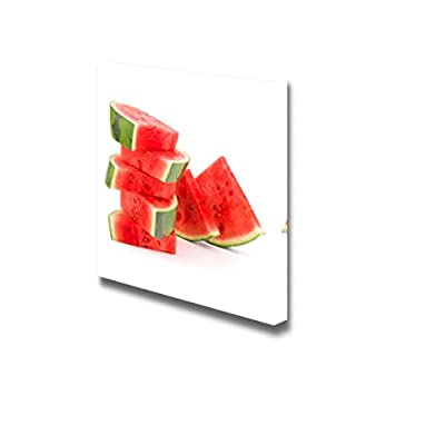 Canvas Prints Wall Art - Sliced Ripe Watermelon Fresh Fruits Photograph | Modern Wall Decor/Home Decoration Stretched Gallery Canvas Wrap Giclee Print & Ready to Hang - 12