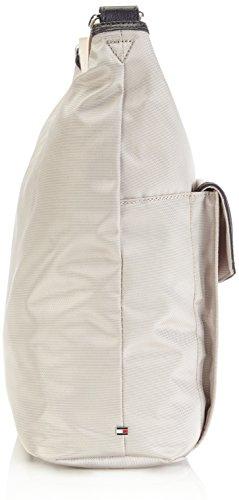 Tommy Hilfiger ADRIANNA HOBO - Bolso de hombro de lona mujer beige - Beige (OXFORD TAN-PT 279)