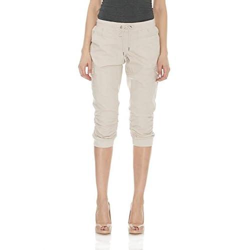 193e190257e 30%OFF Suko Jeans Womens Cargo Capri Pants Pull on Stretch Poplin ...