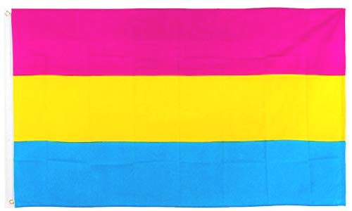 JOHNIN 3x5 Foot Pansexual Pride Flag - Double Side Color - UV Fade Resistant - Bright Pattern - Omnisexual LGBT Flags