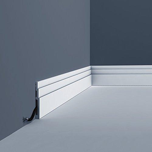 Skirting Orac Decor SX180 MODERN HIGH LINE Decorative moulding Baseboard modern white 2m