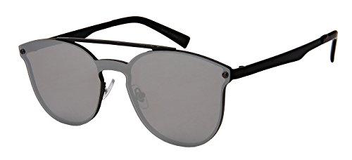 Edge-I-Wear Sunglasses with Mini Brow Bar and Flat Mirrored Lenses - Flat Men Brow Sunglasses
