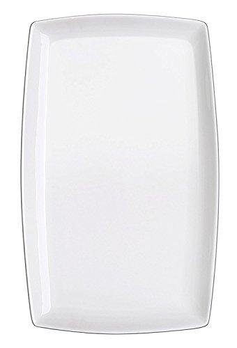 DOWAN 10-inch Porcelain Serving Platter/Rectangular Plates, Set of 4, White by DOWAN (Image #1)