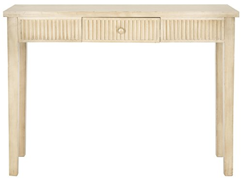 Safavieh American Home Collection Beale Console Table, White Washed