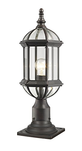 (The zLite 1 Light Outdoor Pier Mount Home Lighting Fixture )