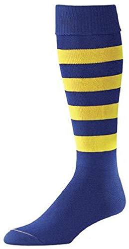 ProFeet Bumble Bee Soccer Socks Royal/Gold Large 10-13