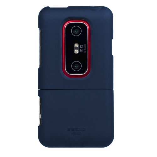 - Seidio SURFACE Case for HTC EVO 3D - 1 Pack - Case - Retail Packaging - Sapphire Blue