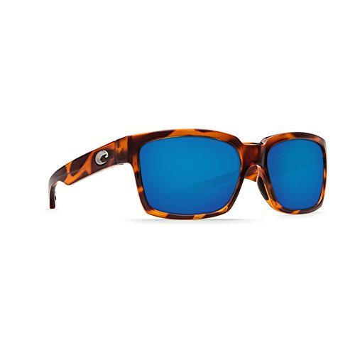Costa Del Mar Playa Polarized Sunglasses Light Tort/White/Aqua Blue Mirror
