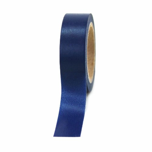 Dress My Cupcake Washi Paper Tape, Solid Navy - Mm Solid Tapes 15