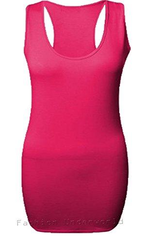 Gym S Top Sans Moulant Dos M Dames Maxi Nageur 36 Manches Uni Long Femmes Gilet 38 Fuchsia vq0nO4B