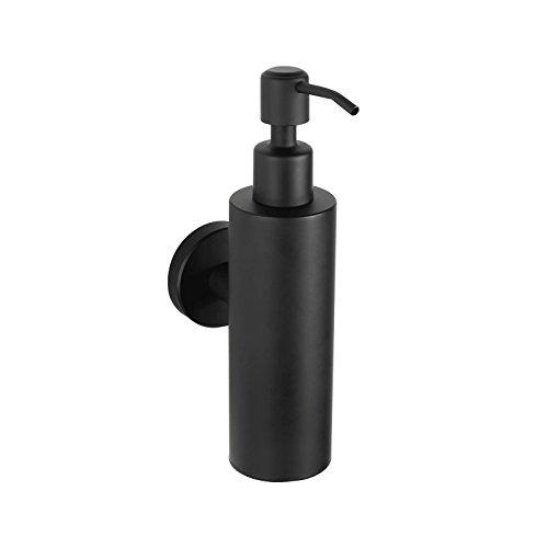 AUSWIND Black 304 stainless steel wall mounted soap dispenser 200ML stainless steel black liquid soap dish Bottle