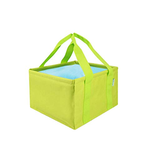 Folding Bucket, Home Multi-function Folding Bucket, Easy To Carry, Simple And Practical, Comfortable, Size: 292923 cm, Color: Green (Color : Green, Size : 292923 cm)