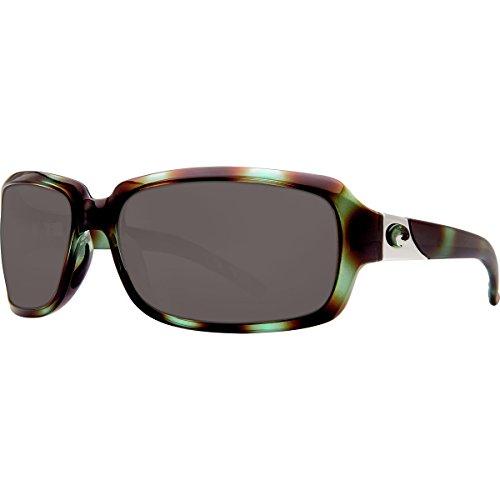 Costa Del Mar Isabela 580P Isabela, Shiny Seagrass Gray, - Sunglasses Del Isabela Costa Mar