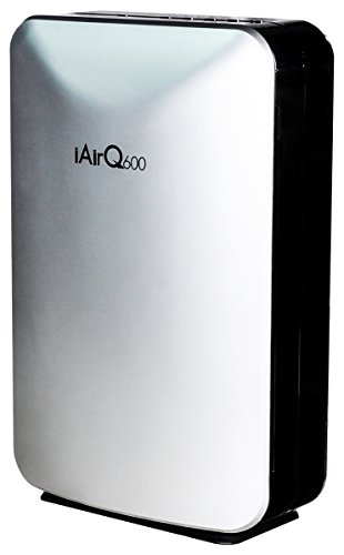 ClimateRight600 Five-Stage Portable Air Purifier with HEPA, Activated Carbon, TiO2, & UV Filters – For Rooms Up to 600 Sq. Ft. – Silver