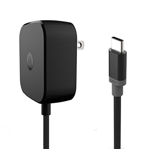 Motorola TurboPower 15 USB-C / Type C Fast Charger - SPN5913A (Retail Packaging) for Moto Z family (Phone Original Motorola Cell)