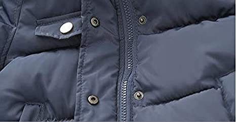 KiKibaby Baby Boys Girls Hooded Snowsuit Winter Warm Fur Collar Hooded Down Windproof Down Jacket Outerwear