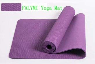 YOOMAT 8mm Thick Red Color Durable&Pink TPE Yoga MATS,Plum ...