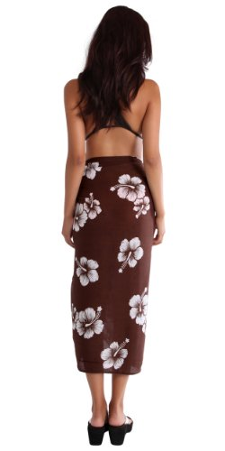 White Brown scelta Dark 1 colore di fiori near costume Wf la donna tua pareo da World in ibisco da bagno 6wgvUnTq6