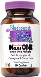 Bluebonnet Maxi One Iron Free Caplets, 60 Count by BlueBonnet